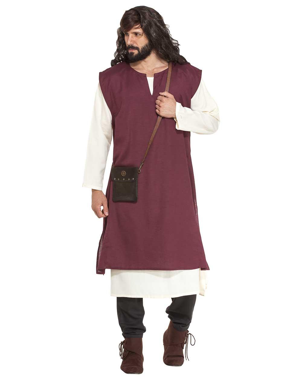 Teen Linen Sleeveless Medieval Shirt Green size 1314