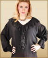 Renaissance pirate gypsy gothic blouse
