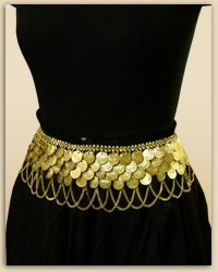 Royal Gold Coin Waist Belt