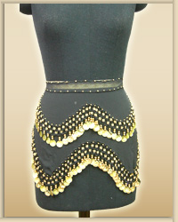 Egyptian Wave Design Hip Scarf