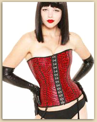 Red Leopard Corset
