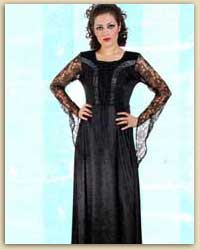 Transparent Sleeves Velvet Long Dress
