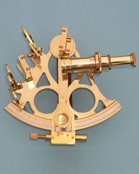 British Captain Brass Sextant with Hardwood Case