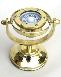 Solid Brass Gimball Compass