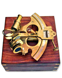Solid Brass Sextant 8inch
