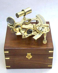 Solid Brass Sextant (6inch) with Wooden Box
