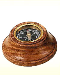 Wooden Desk Compass