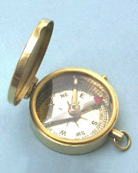 Solid Brass Covered Pocket Compass II