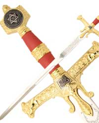 Red & Gold King Solomon Sword