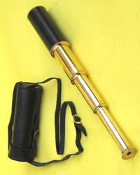 Solid Brass Telescope (Spyglass) with Leather Case