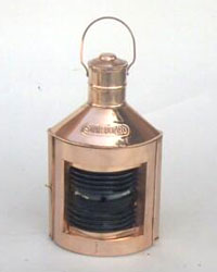 Port Ship Lantern with Oil Lamp