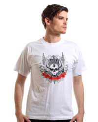 Skull with Knife T-shirt