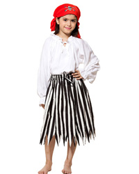 Girls Pirate Striped Skirt