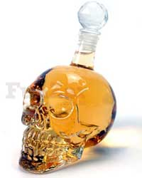 Transparent Skull Shaped Bottle