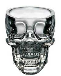 Transparent Skull Head Vodka Shot Glass