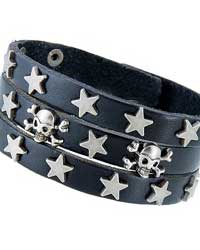 Skeleton & Star Leather Bracelet