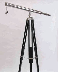 Chrome Harbor Telescope With Tripod