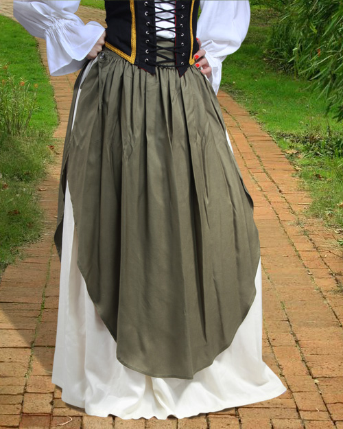 MEDIEVAL RENAISSANCE Pirate Civil War Gypsy Long Length Tall Skirt