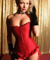 Red Beaded Corset