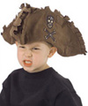 Kids Tattered Pirate Brown Hat