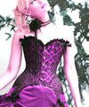 Purple Gothic Lace Corset