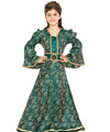 Childs Green Brocade Dress